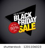 black friday sale banner layout ... | Shutterstock .eps vector #1201106023