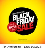 black friday sale banner layout ... | Shutterstock .eps vector #1201106026