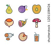 ingredient icon set. vector set ... | Shutterstock .eps vector #1201108426