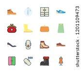 shoes icon set. vector set... | Shutterstock .eps vector #1201109473