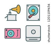 disk icon set. vector set about ... | Shutterstock .eps vector #1201109656