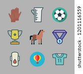 competition icon set. vector... | Shutterstock .eps vector #1201116559