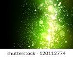 Green Colour Bokeh Abstract...