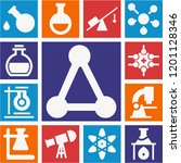 set of 13 science filled icons...   Shutterstock .eps vector #1201128346