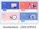 time management concept banners  | Shutterstock .eps vector #1201129513
