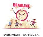 deadline vector illustration...   Shutterstock .eps vector #1201129573