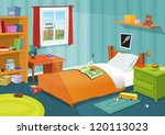 some kid bedroom  illustration... | Shutterstock .eps vector #120113023