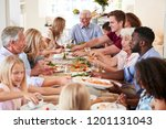 group of multi generation... | Shutterstock . vector #1201131043