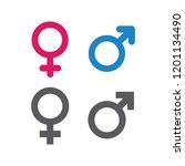 illustration of gender symbol | Shutterstock .eps vector #1201134490