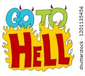 an image of a go to hell insult ... | Shutterstock .eps vector #1201135456