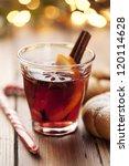 closeup of mulled wine  focus... | Shutterstock . vector #120114628