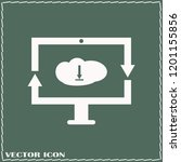 monitor icon vector...