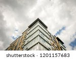 abstract modern architectural... | Shutterstock . vector #1201157683