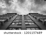 abstract modern architectural... | Shutterstock . vector #1201157689
