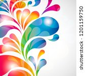 abstract background with bright ...   Shutterstock .eps vector #1201159750