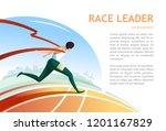 race leader tearing the finish... | Shutterstock .eps vector #1201167829