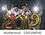 office christmas party. group... | Shutterstock . vector #1201168240