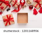 empty gift box for christmas or ... | Shutterstock . vector #1201168906