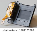 dslr camera shutter mechanical | Shutterstock . vector #1201169383
