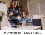 i have drunk all my milk | Shutterstock . vector #1201171810