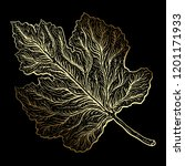 beautiful detailed leaf.... | Shutterstock .eps vector #1201171933