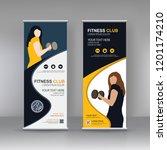 vector fitness vertical stand...   Shutterstock .eps vector #1201174210