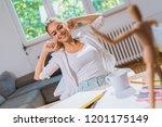 creative relaxing activities at ... | Shutterstock . vector #1201175149