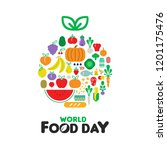 world food day greeting card... | Shutterstock .eps vector #1201175476