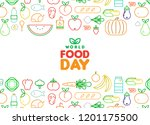world food day greeting card... | Shutterstock .eps vector #1201175500