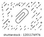 paperclip icon with background   Shutterstock .eps vector #1201176976