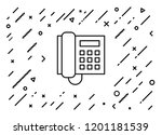 telephone icon with background