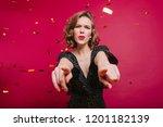 studio shot of good looking... | Shutterstock . vector #1201182139
