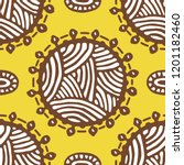 seamless pattern with ethnic... | Shutterstock . vector #1201182460
