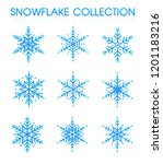 snowflakes collection set for...   Shutterstock .eps vector #1201183216