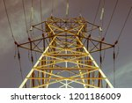 modern outdoor electrical power ... | Shutterstock . vector #1201186009