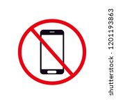 don't use phone symbol  no... | Shutterstock .eps vector #1201193863