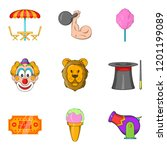 tame the beast icons set.... | Shutterstock . vector #1201199089