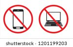 no phone symbol and no laptop... | Shutterstock .eps vector #1201199203