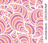 seamless pattern with hand... | Shutterstock . vector #1201201969