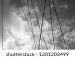 abstract electric cable lines... | Shutterstock . vector #1201203499