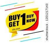 buy 1 get 1 free sale banner... | Shutterstock .eps vector #1201217143