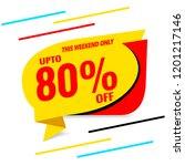 sale banner template flat design | Shutterstock .eps vector #1201217146