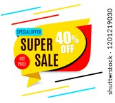 sale banner yellow | Shutterstock .eps vector #1201219030
