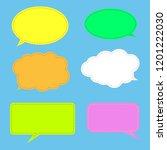 vector set of stickers of... | Shutterstock .eps vector #1201222030