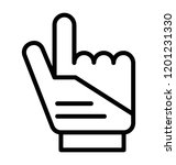 hand gesture with a raised... | Shutterstock .eps vector #1201231330