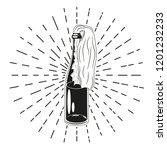 molotov cocktail sign. vector... | Shutterstock .eps vector #1201232233