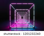 spotlight stage. neon...   Shutterstock . vector #1201232260