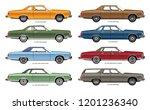 vector illustration of a line... | Shutterstock .eps vector #1201236340