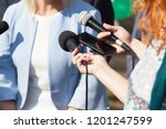 reporters making media...   Shutterstock . vector #1201247599