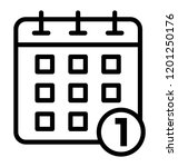 calendar with date  timetable... | Shutterstock .eps vector #1201250176